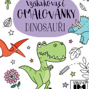 JIRI MODELS Omalovánky vyskakovací Dinosauři