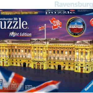 RAVENSBURGER Puzzle 3D Buckinghamský palác Noční edice 216 dílků LED Světlo