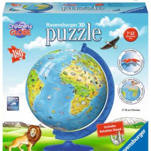 RAVENSBURGER Puzzle 3D Dětský globus 180 dílků 20cm AJ plast