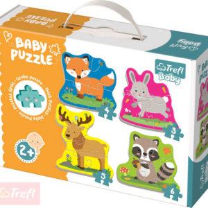TREFL Baby puzzle Zvířátka velké dílky 4v1 set 18 dílků pro miminko