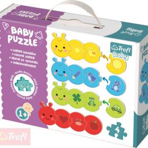 TREFL Baby puzzle Barvy spojovací housenka set 16 dílků pro miminko