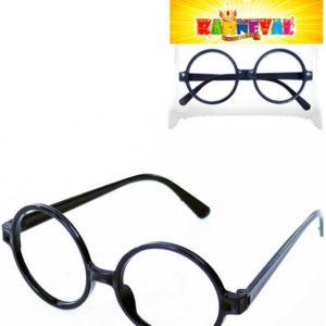 KARNEVAL Brýle čarodějnické kulaté černé *KARNEVALOVÝ DOPLNĚK*