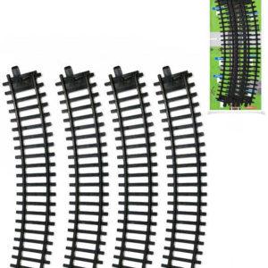 Naše železnice kolej zahnutá set 4ks oblouk doplněk k vláčkodráze