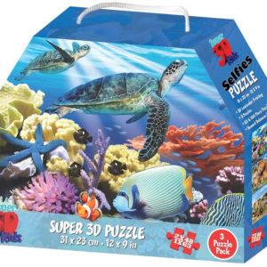 PUZZLE 3D Skládačka 3v1 Rozmanitá říše zvířat 31x23cm set 159 dílků