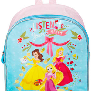 Batůžek dětský Disney Princezny holčičí 26x32x10cm na zip s ouškem