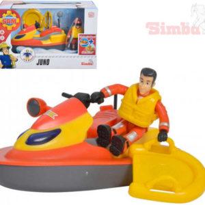 SIMBA Požárník Sam záchranářský set vodní skútr Juno s figurkou a doplňky