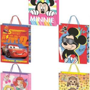 Taška dětská dárková Disney / emotikony 18x24cm různé motivy