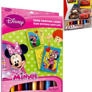 Pískování Disney kreativní set 2 obrázky s barevným pískem různé druhy