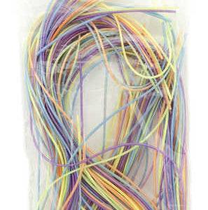 Provázky zaplétací set 35ks barevné bužírky 105cm v sáčku