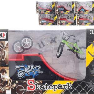 Šroubovací set rampa s BMX prstovým kolem a doplňky různé druhy kov