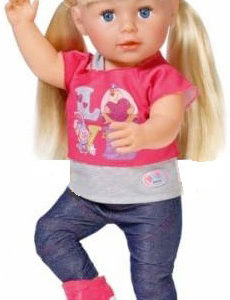 Panenka Janička blonďatá 45cm ohebné klouby v džínách blondýnka