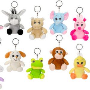 PLYŠ Přívěsek na klíče zvířátko 10cm různé druhy klíčenka