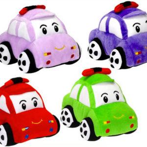 PLYŠ Baby autíčko veselé 20cm s obličejem různé barvy *PLYŠOVÉ HRAČKY*