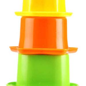 Pyramida kalíšky vkládací baby formičky na písek do vody set 5ks v krabičce