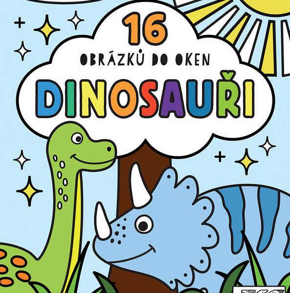JIRI MODELS Omalovánky do oken Dinosauři vitráž průsvitný papír