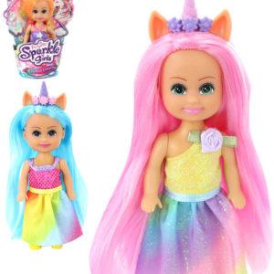 Panenka Sparkle Girlz víla duhová unicorn panenka s růžkem v kornoutu různé druhy