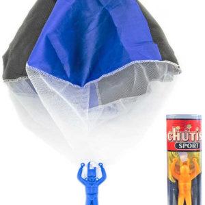 Parašutista s padákem házecí hračka v tubě různé barvy plast