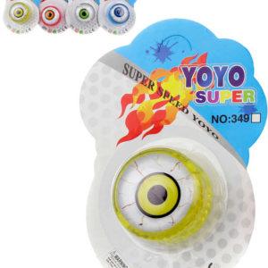 JoJo plastové oko svítící na baterie 5,5cm různé barvy jo-jo Světlo