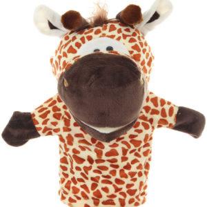 PLYŠ Maňásek zvířátko žirafa 25cm na ruku *PLYŠOVÉ HRAČKY*