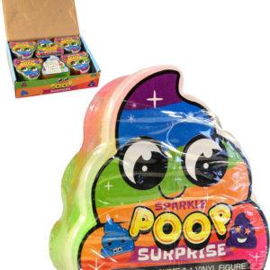 Hmota zábavná hovínko dětská žertovinka set s figurkou v krabičce