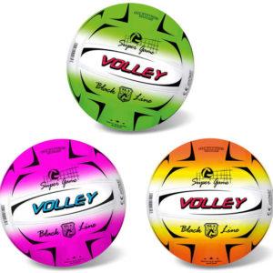 Míč volejbalový 21cm Fluo Black Line různé barvy