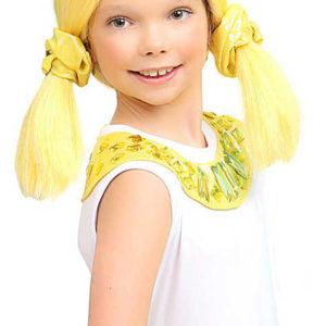 KARNEVAL Paruka dětská Lollipopz Nika žlutá umělé vlasy