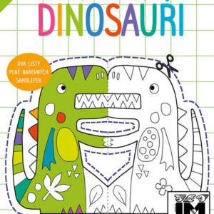 JIRI MODELS Vystřihovánky Dinosauři kreativní set se samolepkami
