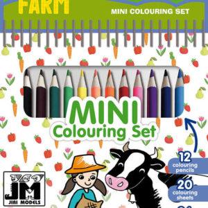 JIRI MODELS Set mini blok + pastelky Farma