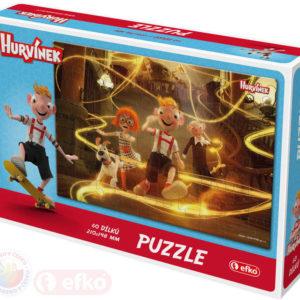 EFKO Puzzle Hurvínek II 60 dílků 21x15cm skládačka v krabici