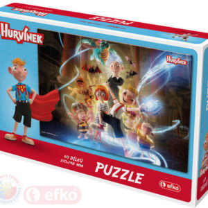EFKO Puzzle Hurvínek IV 60 dílků 21x15cm skládačka v krabici