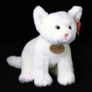 PLYŠ Kočka bílá 24cm sedící *PLYŠOVÉ HRAČKY*