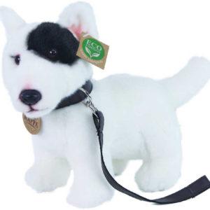 PLYŠ Pes anglický bulteriér 25cm stojící s vodítkem Eco-Friendly *PLYŠOVÉ HRAČKY*