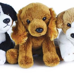 PLYŠ Pes sedící 14cm různé druhy Eco-Friendly *PLYŠOVÉ HRAČKY*