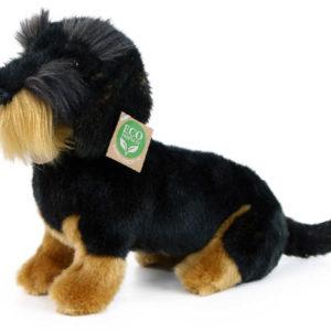 PLYŠ Pes jezevčík drsnosrstý 30cm sedící Eco-Friendly *PLYŠOVÉ HRAČKY*