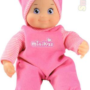 SMOBY Baby panenka miminko Minikiss 27cm na baterie Zvuk v krabici