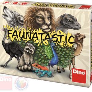 DINO Hra karetní Faunatastic cestovní *SPOLEČENSKÉ HRY*