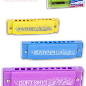 BONTEMPI Harmonika dětská foukací 11cm kov různé barvy *HUDEBNÍ NÁSTROJE*
