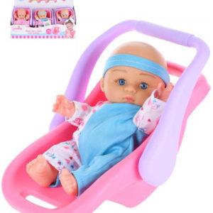 Panenka miminko 20cm v přenosném sedátku měkké tělo různé druhy