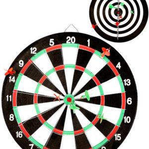 Hra šipky set terč oboustranný 41cm se 6 šipkami *SPOLEČENSKÉ HRY*