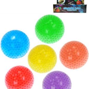 Míček antistresový 7cm měkký mačkací s kuličkami 6 barev