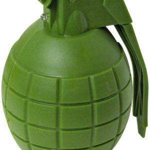 Granát ruční vojenský zelený 9cm na baterie Světlo Zvuk