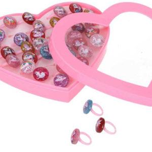 Prstýnek dětský plastový s jednorožcem různé druhy a barvy 1ks