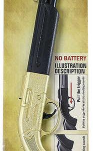 Puška kovbojská zlatá 50cm dětská zbraň se zvukem plastová
