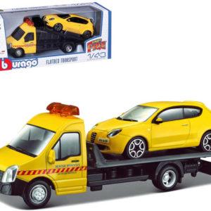 BBURAGO Odtahová služba set 2 auta v krabici model 1:43 kov