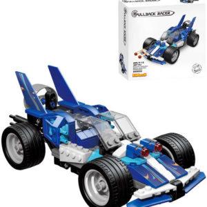 LiNooS Auto sportovní zpětný chod 207 dílků plast STAVEBNICE