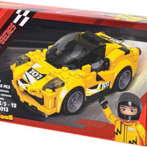 LiNooS Auto sportovní volný chod 164 dílků plast STAVEBNICE