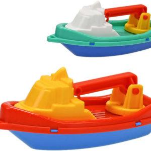 Loďka do vody barevná jeřáb 14cm do vany 2 barvy plast