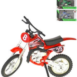 Motorka cross terénní 11cm kovový motocykl závodní 3 barvy