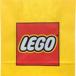 LEGO Reklamní taška papírová 34x35cm žlutá s logem