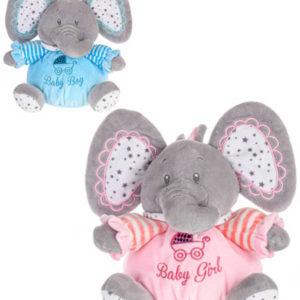 PLYŠ Baby slon chrastící miminko 16cm 2 barvy *PLYŠOVÉ HRAČKY*